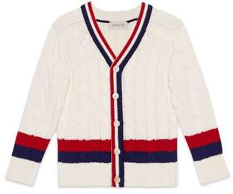 Gucci Children's cotton cardigan with Web