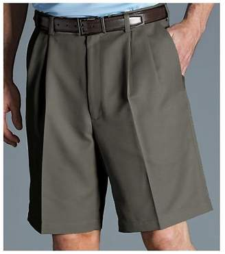 Haggar Men's Cool 18 Gabardine Pleat Front Short
