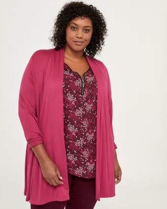 Penningtons Open Cardigan with Cascade Collar - In Every Story