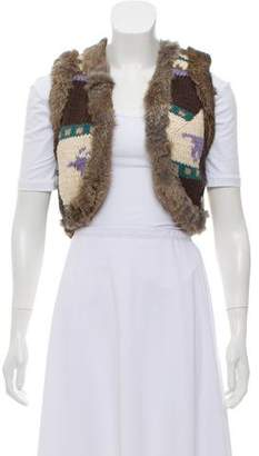 LaROK Fur Lined Wool-Blend Vest