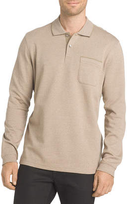 Van Heusen Long Sleeve Knit Polo Shirt
