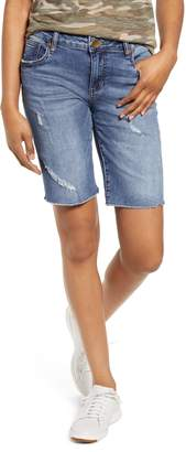 KUT from the Kloth Sophie Ripped Denim Bermuda Shorts