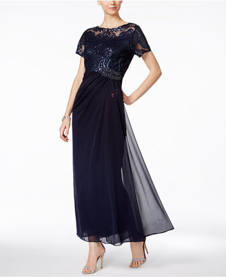 Alex Evenings Embellished Ruched A-Line Gown $199 thestylecure.com