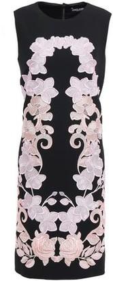Dolce & Gabbana Embroidered Crepe Mini Dress