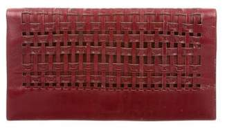 Calvin Klein Collection Woven Leather Clutch