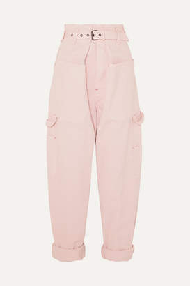 Isabel Marant Inny Cotton Tapered Pants - Pink