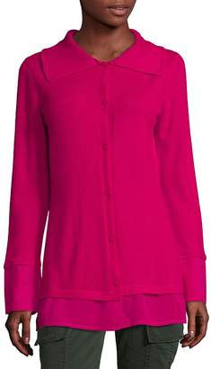 Escada Women's Long-Sleeve Button-Front Cashmere Top