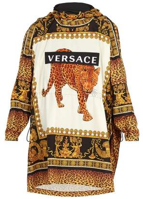 Versace - Leopard Print Hooded Raincoat - Mens - Multi
