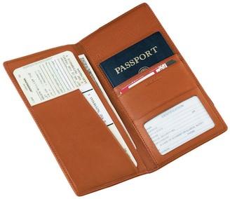 Royce Leather Airline Ticket & Passport Holder