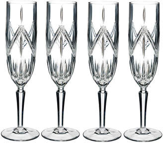 Waterford Marquis Lacey Stemware Champagne Flutes - Set of 4