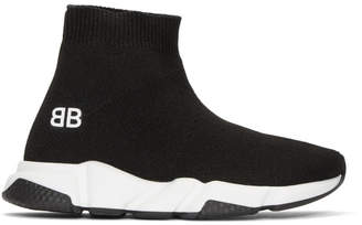 Balenciaga Girl Black and White Speed Sneakers