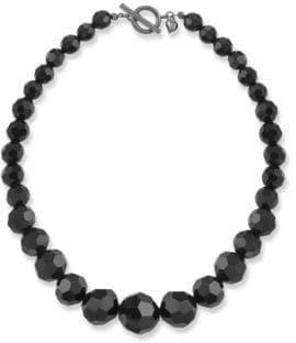Carolee Jet Crystal Beaded Necklace