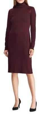 Lauren Ralph Lauren Faux Suede-Trimmed Sheath Dress