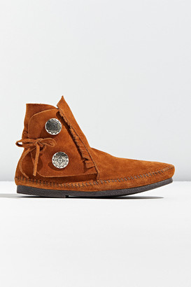 Minnetonka 2-Button Moccasin Ankle Boot