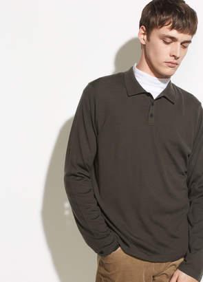 Long Sleeve Wool Polo
