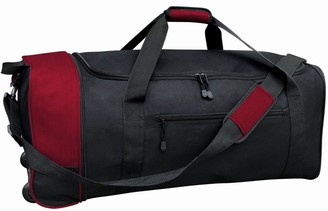 """Traveler's Club Travelers Club 32"""" Large Collapsible Two-TonedRolling Duffel"""