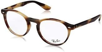 Ray-Ban Women's 0RX 5283 5775 Optical Frames, (Horn Beige Brown)