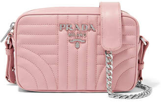 Prada Quilted Leather Camera Bag - Pink
