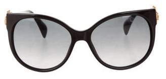 Alexander McQueen Oversize Acetate Sunglasses Black Oversize Acetate Sunglasses