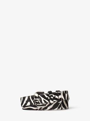 Michael Kors Zebra Calf Hair Belt