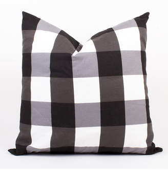 8 Oak Lane Black And White Gingham Pillow 20""