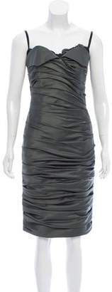Mandalay Ruched-Accented Knee-Length Dress