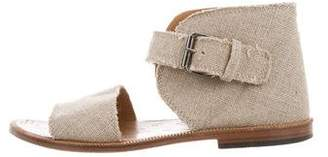 Maison Margiela Canvas Ankle Strap Sandals