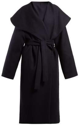 The Row - Utan Cape Collar Wool Coat - Womens - Navy