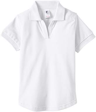 Trutex Girl's Fitted Short Sleeve Polo Shirt