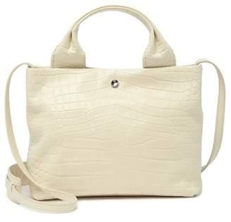 Elizabeth and James Teddy Leather Zip Top Shoulder Bag
