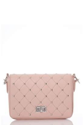 Quiz Pink Silver Stud Trim Bag