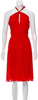 L'Agence Knee-Length Halter Dress