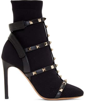 Valentino Black Garavani Rockstud Boots