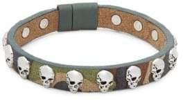 Tateossian Camouflage Leather Bracelet