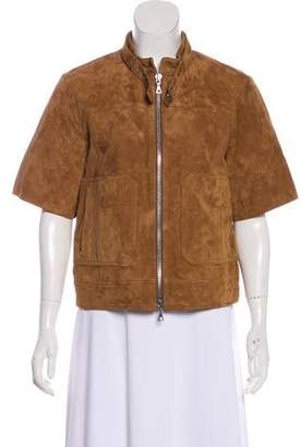 Theory Leather Short Sleeve Jacket w/ Tags