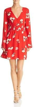 En Creme Floral Print A-Line Mini Dress