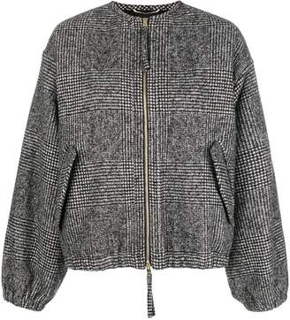Rochas houndstooth bomber jacket