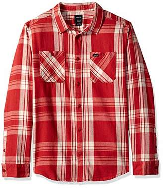 RVCA Men's Wanted Flannel Long Sleeve Woven Shirt