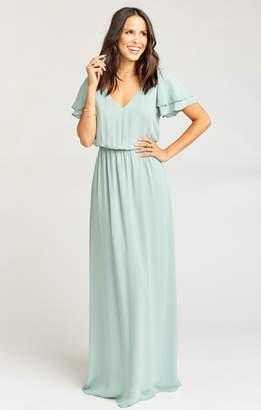 Show Me Your Mumu Michelle Maxi Dress ~ Silver Sage Crisp