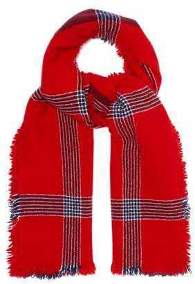 BeauFort Begg & Co. Ladakh Lambswool And Cashmere Blend Scarf - Mens - Red