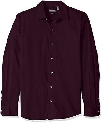 Van Heusen Men's Slim Fit Stripe Sateen Long Sleeve Button Down Shirt