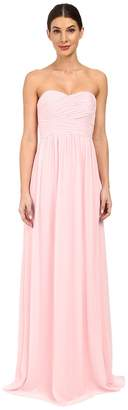 Donna Morgan Strapless Chiffon Gown - Stephanie Women's Dress