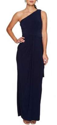 Adrianna Papell One-Shoulder Draped Gown
