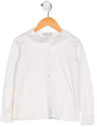 agnès b. Girls' Long Sleeve Button-Up Top