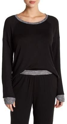 Kensie Contrast Trim Long Sleeve Pullover