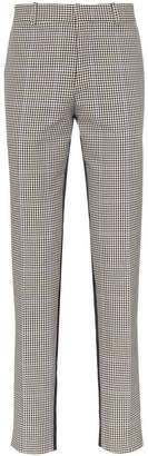 Alexander McQueen Contrast Dogtooth Trousers