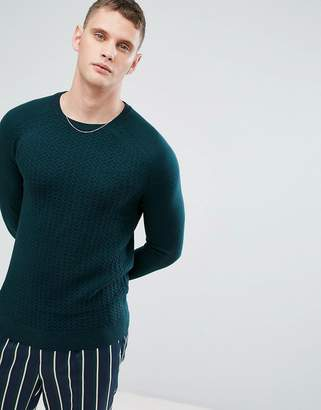 Reiss Cable Knit Crew