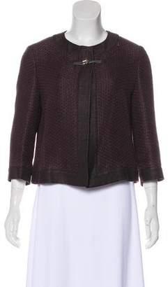 Max Mara Woven Linen-Blend Jacket