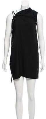 IRO One Shoulder Lace-Up Mini Dress
