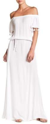 On The Road Copa Off-the-Shoulder Tassel Maxi Dress
